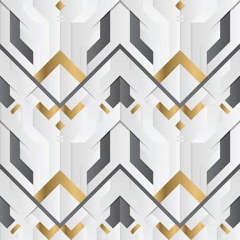 抽象的な幾何学的な装飾ストライプ白と金色の要素
