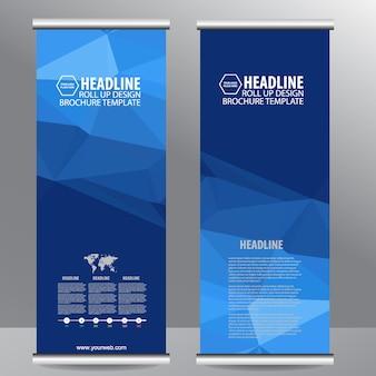 ビジネスパンフレットのフライヤーバナーデザインをロールアップ