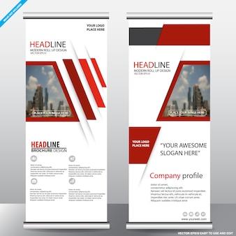 レッドロールビジネスのパンフレットチラシのバナーデザイン