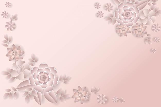 花の花束紙カットスタイルピンク色