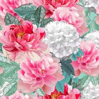 Цветочный бесшовный узор