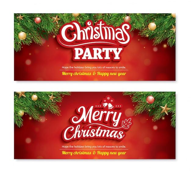 Веселый рождественский пригласительный баннер