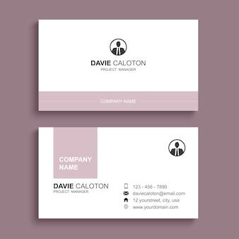 Минимальный дизайн шаблона печати визитной карточки