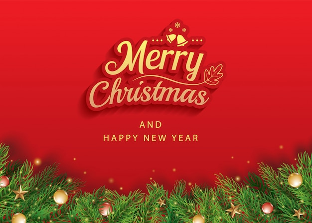 Веселого рождества и счастливого нового года открытка баннер шаблон.