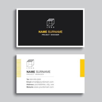 最小限の名刺印刷テンプレートデザイン。シンプルでクリーンなレイアウト。