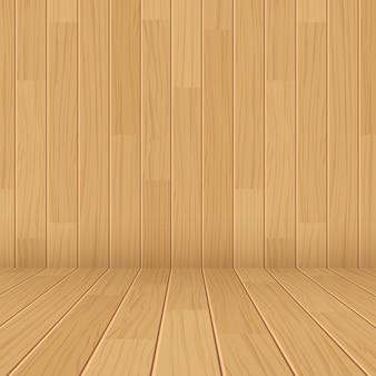 木製テクスチャ空部屋の背景