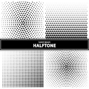 ハーフトーンの背景のセット