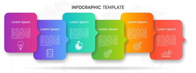 モダンなタイムラインインフォグラフィックオプションまたはステップ。