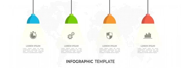 Инфографики шаблон с шагами