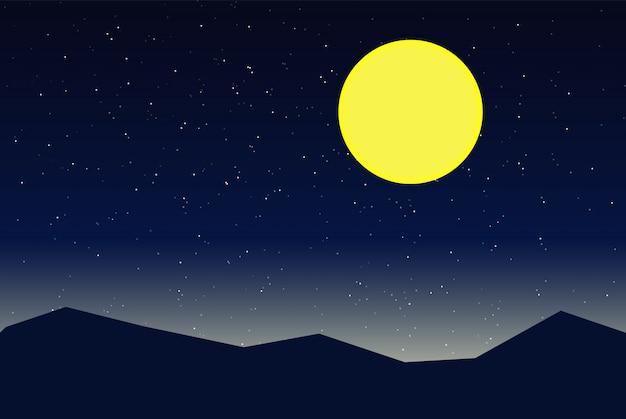 Векторная иллюстрация ночного неба