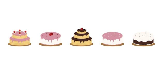 ベクトルイラストのケーキ