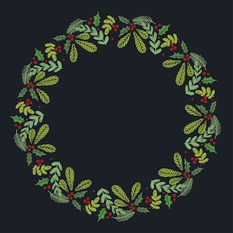 Рождественский ручной стриженный венок