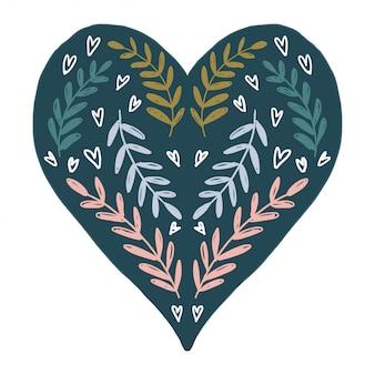ハート型デザインベクトルと幸せなバレンタインデー