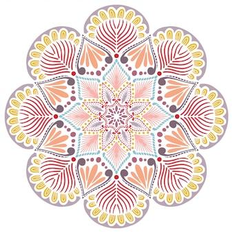 マンダラ塗り絵、オリエンタル療法、ヨガのロゴベクトル。