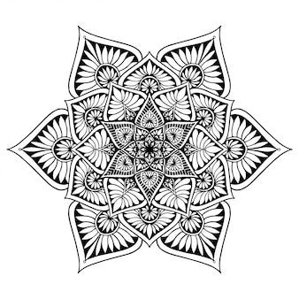 Мандалы, книжка-раскраска, восточная терапия, йога логотипы вектор.