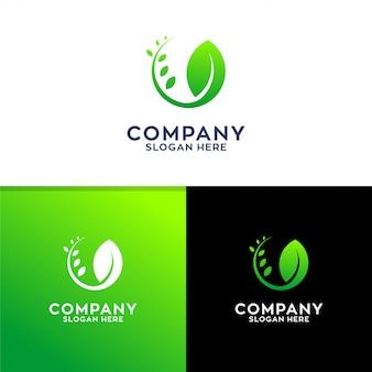 葉のロゴデザイン