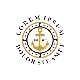 Якорь и компас логотип