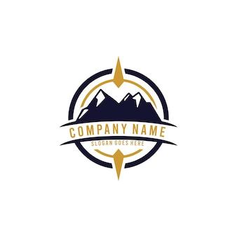 Старинный открытый логотип шаблон