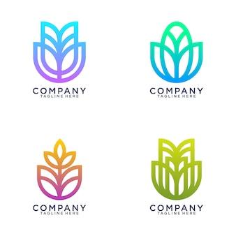 ビジネスのロゴのコレクション