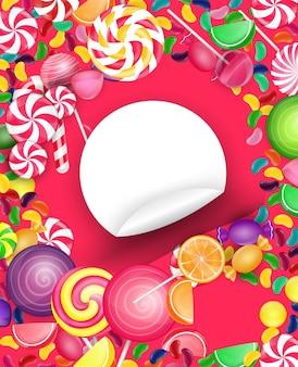 キャンディフレームの背景