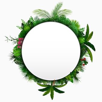 Тропический фон с листьями