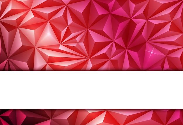 赤い抽象的な多角形の背景