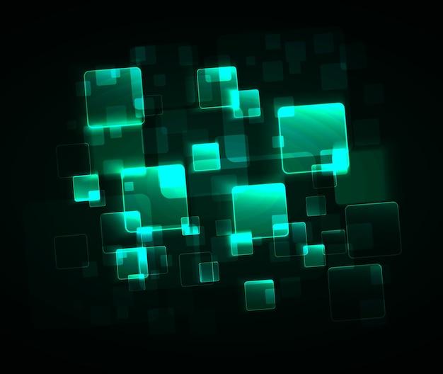 抽象的な緑の正方形の背景
