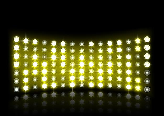 黄色ステージライトイラスト
