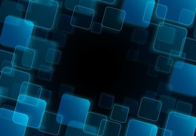 青色の透明な正方形の背景
