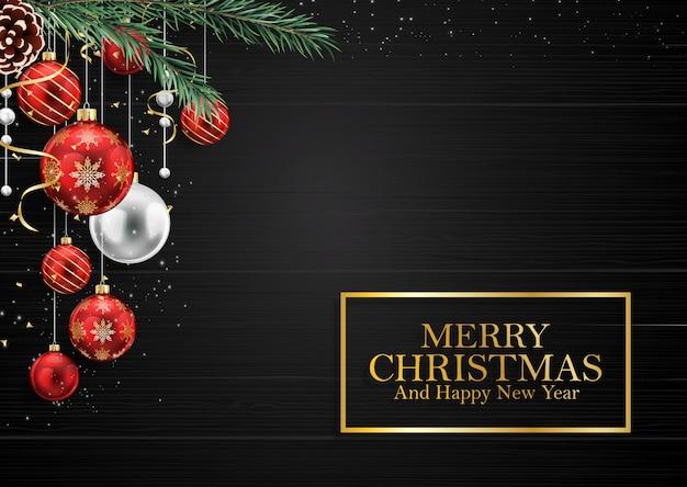 メリークリスマスと新年の背景