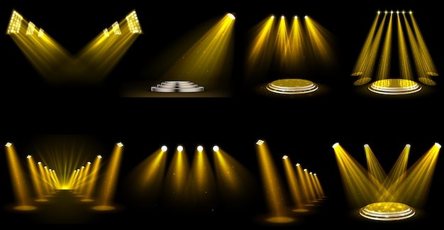 光効果スポットライトのセット