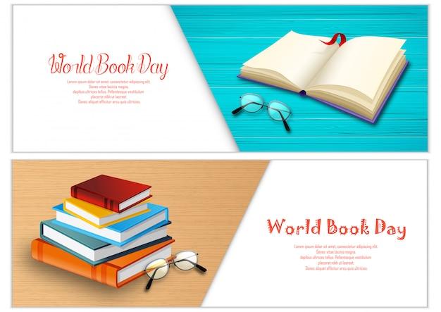 Шаблон баннеров всемирного дня книги