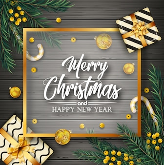 クリスマスの要素とクリスマスの背景