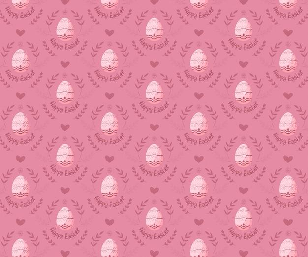 ピンクの背景にシームレスパターンのイースターエッグ