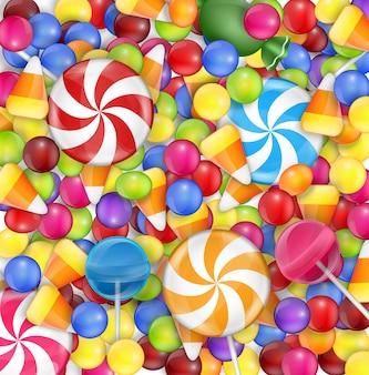 お菓子の背景