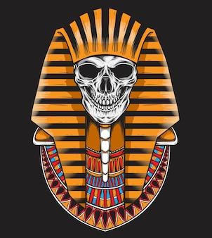 頭蓋骨の石棺ベクトル