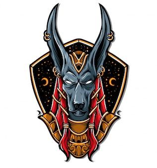 Анубис логотип вектор