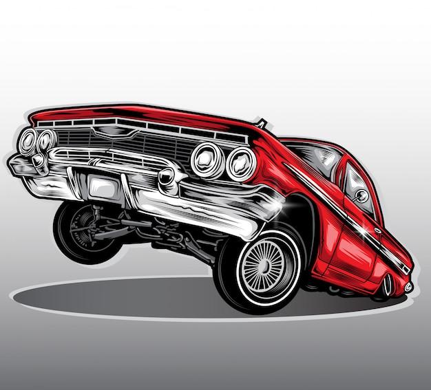 ローライダー車のベクトル