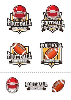 フットボールのロゴパック