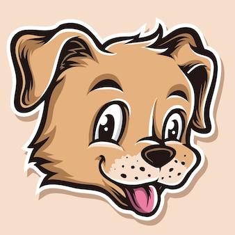 犬の子犬のベクトルの頭