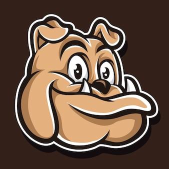 かわいいピットブルのロゴ