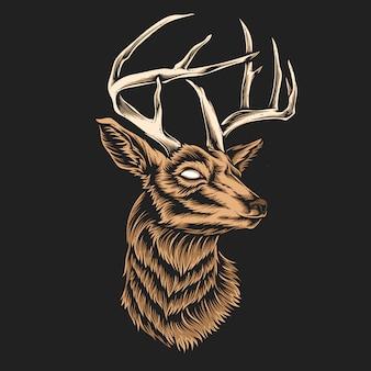 鹿の頭のベクトル