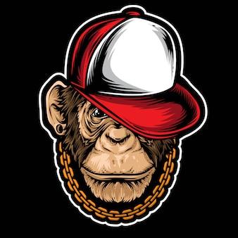 Хип-хоп шимпанзе вектор