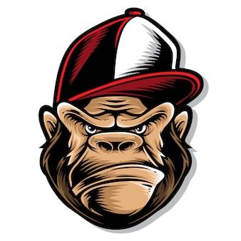 Логотип хип-хоп гориллы