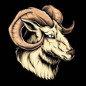 Коза голова вектор