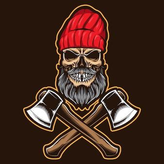 斧で頭蓋骨木こり
