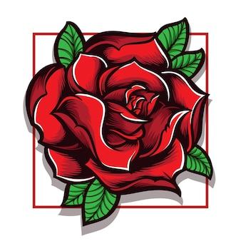 バラのベクトルのロゴ