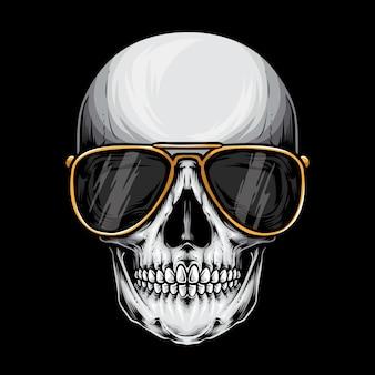 サングラスの頭蓋骨