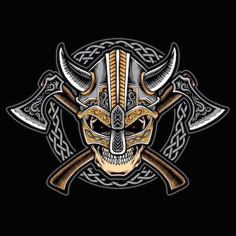 バイキング飾りの頭蓋骨