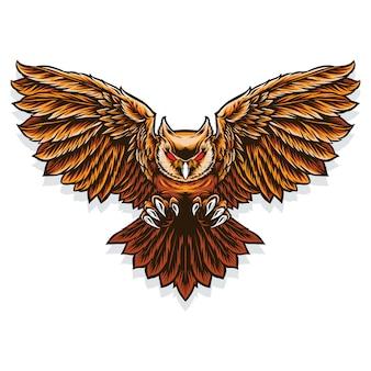 Летающая сова с когтем